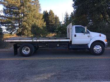 2007 Ford F 750xlt 18 Ft Flat Bed Dump Truck Opperman